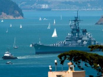 USS Iowa Tow