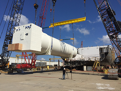 Progress Update: LNG Storage Tanks Installed on Crowley's First
