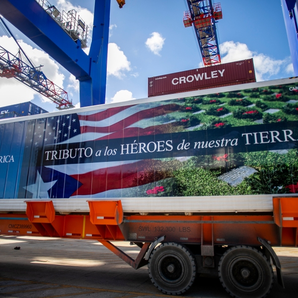 Crowley provides end-to-end services in Puerto Rico to support Wreaths Across America