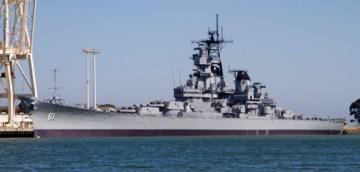 USS IOWA at Richmond nonaerial