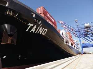 Crowley Christens LNG-Powered Ship MV Taíno in Puerto Rico,