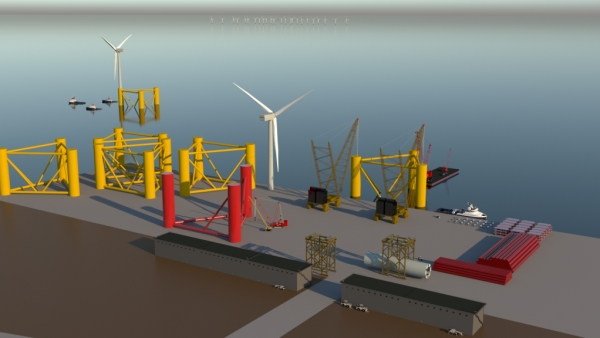 offshore wind floating Port