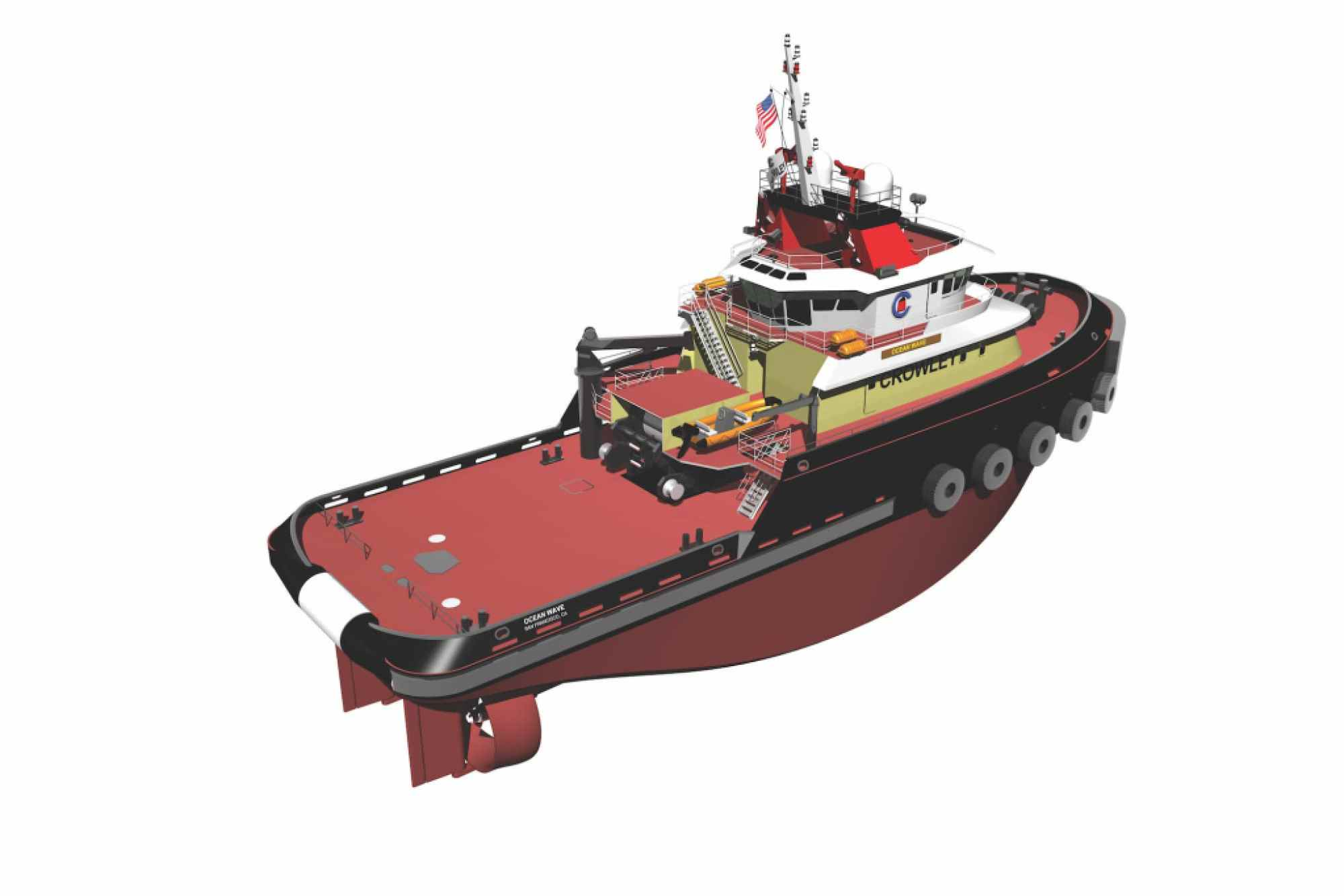 naval architecture tugboat rendering