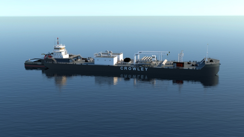 The 55,000-barrel-capacity (2.3 million gallon) ATB Aurora/Qamun will serve the air station and Crowley's fuel customers throughout western Alaska and the Arctic.