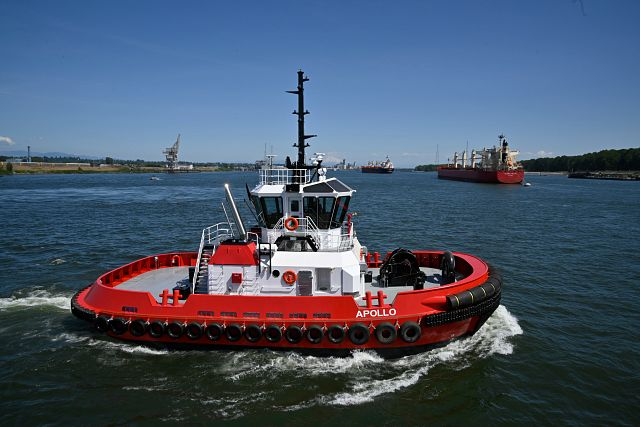 Crowley's ship assist and harbor escort services group has taken delivery of Apollo, a powerful and maneuverable tugboat with the most compact size in the U.S.